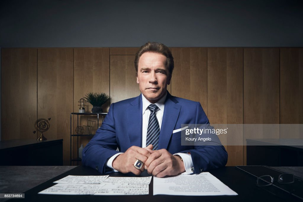 Austrian-American actor, producer, author, and politician Arnold Schwarzenegger for The Hollywood Reporter on March 3, 2016 in Los Angeles, California.