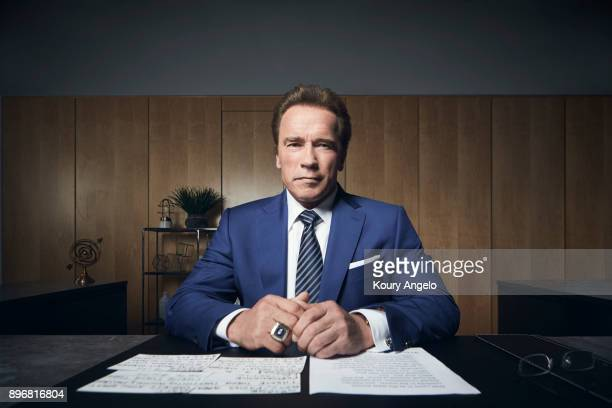 AustrianAmerican actor producer businessman investor author philanthropist activist politician Arnold Schwarzenegger is photographed for The...