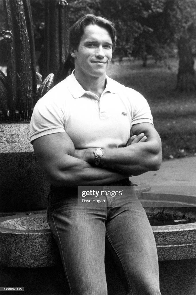 Austrian-born American actor and bodybuilder Arnold Schwarzenegger, 1984.