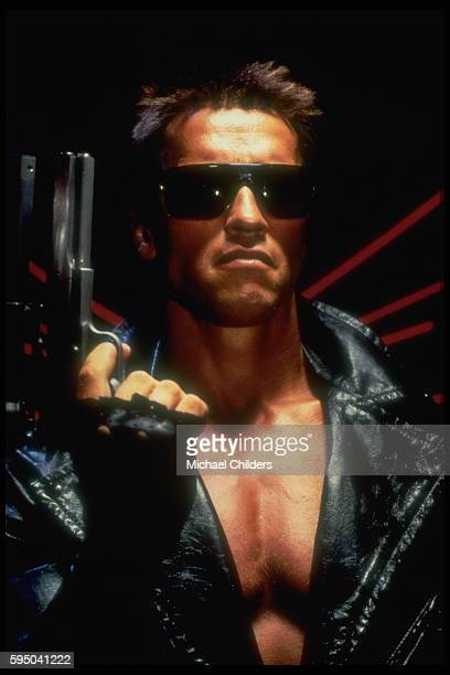 Austrianborn American actor Arnold Schwarzenegger stars in movie The Terminator by director screenwriter and producer James Cameron