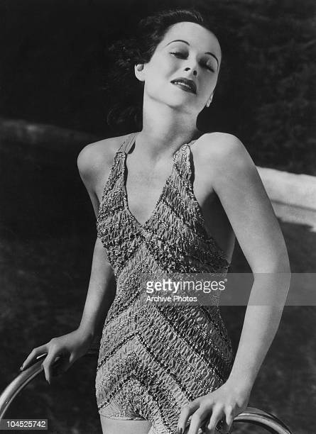 Austrianborn American actress Hedy Lamarr in a onepiece swimsuit 1938