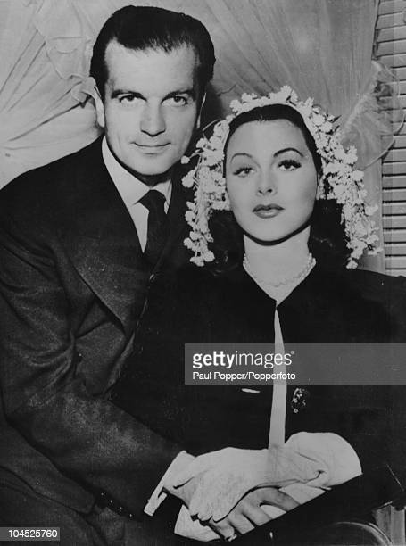 Austrianborn American actress Hedy Lamarr with her third husband English actor John Loder on their wedding day Los Angeles 27th May 1943