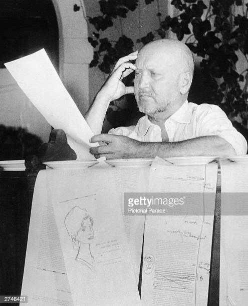 Austrianborn author and painter Ludwig Bemelmans of the Madeline series of children's books works on the novel Are You Hungry Are You Cold September...