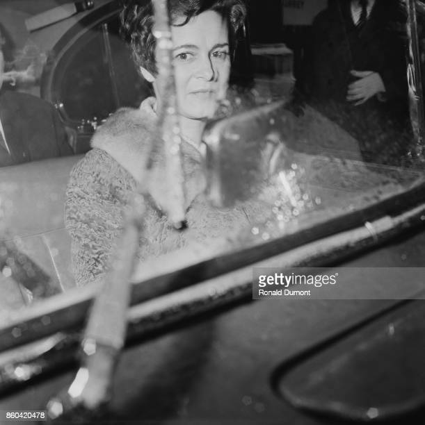 Austrian-born British concert pianist Marion Stein , sitting in a car, after succesfully divorced from husband George Lascelles, 7th Earl of...