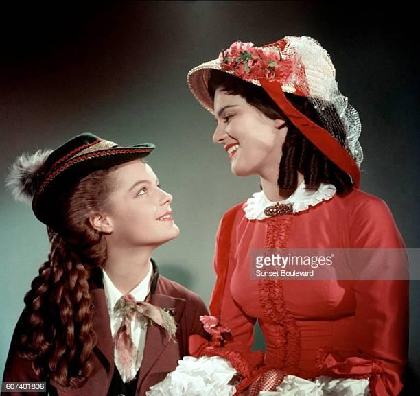 Austrianborn German actress Romy Schneider and her mother German actress Magda Schneider on the set of Sissi Schicksalsjahre einer Kaiserin Sissi...