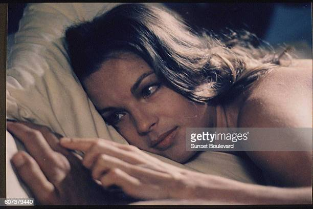 Austrianborn German actress Romy Schneider on the set of 1030 PM Summer based on the novel by Marguerite Duras and directed by Jules Dassin