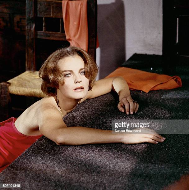 Austrianborn German actress Romy Schneider on the set of 1030 PM Summer written directed and produced by American Jules Dassin