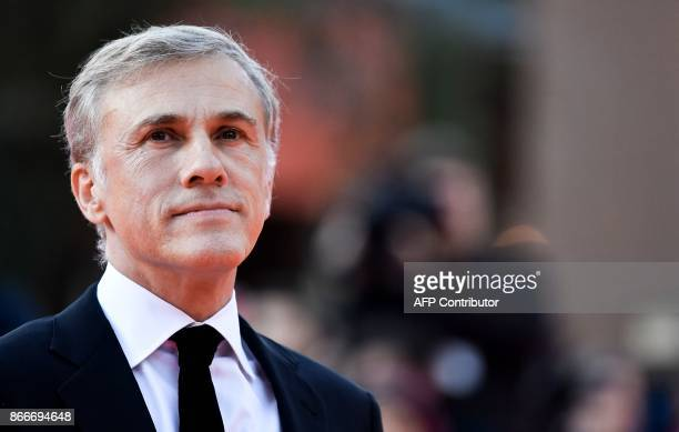 AustrianGerman actor Christoph Waltz arrives at the 12th Rome Film Festival on October 26 2017 in Rome / AFP PHOTO / TIZIANA FABI