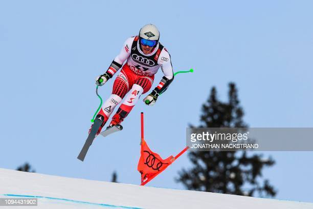 Austria's Daniel Danklmaier competes in the men's Super G event at the 2019 FIS Alpine Ski World Championships at the National Arena in Are, Sweden,...