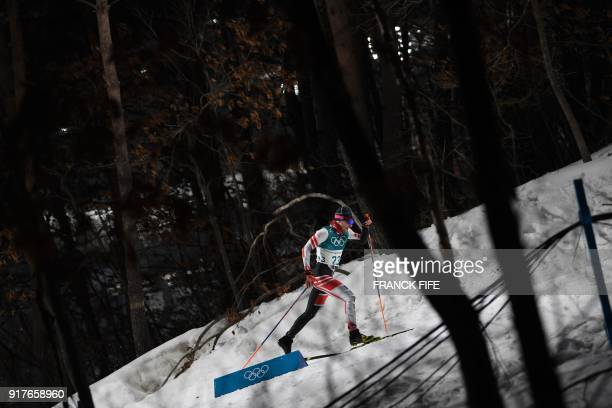 TOPSHOT Austria's Dominik Baldauf competes during the men's crosscountry individual sprint classic qualifications at the Alpensia cross country ski...