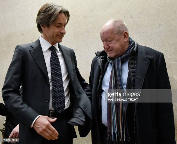 Austria's former Finance Minister KarlHeinz Grasser and realestate agent Ernst Karl Plech wait for the start of their trial concerning the...