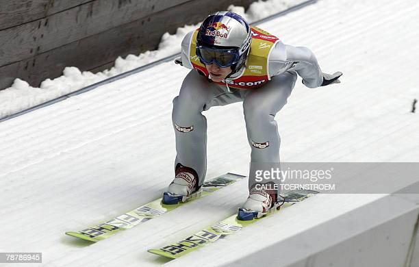Austria's Gregor Schlierensauer competes during the FIS ski-jumping World Cup, third round of the Four Hills Tournament in Bischofshofen 05 January...