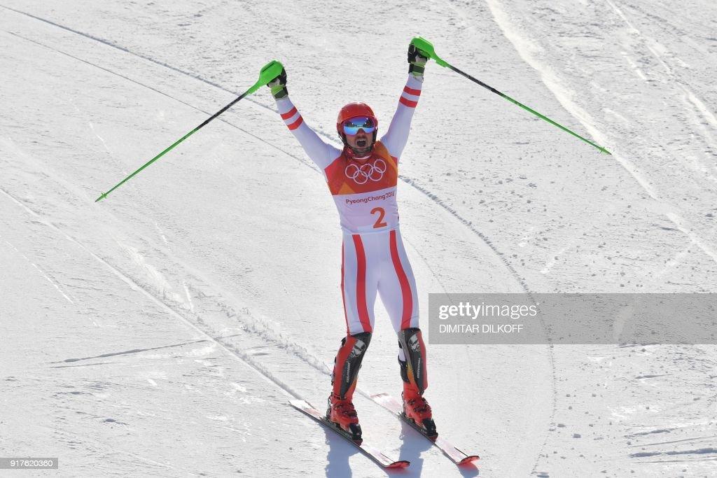 ALPINE-SKIING-OLY-2018-PYEONGCHANG : News Photo