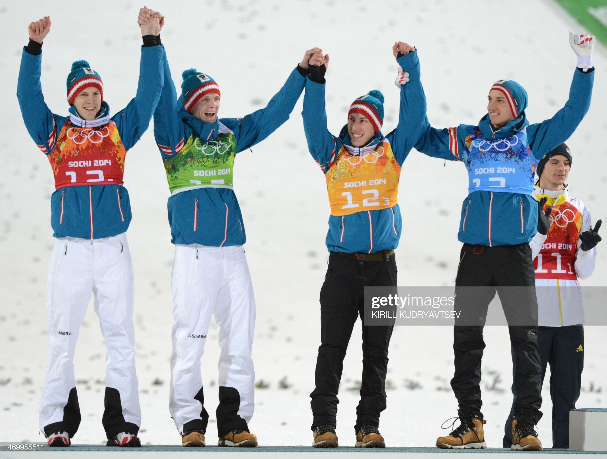 Сочи 2014: М. Хайбек, Т. Моргенштерн, Т. Дитхарт, Г. Шлиренцауэр – серебряные призеры Олимпийских игр