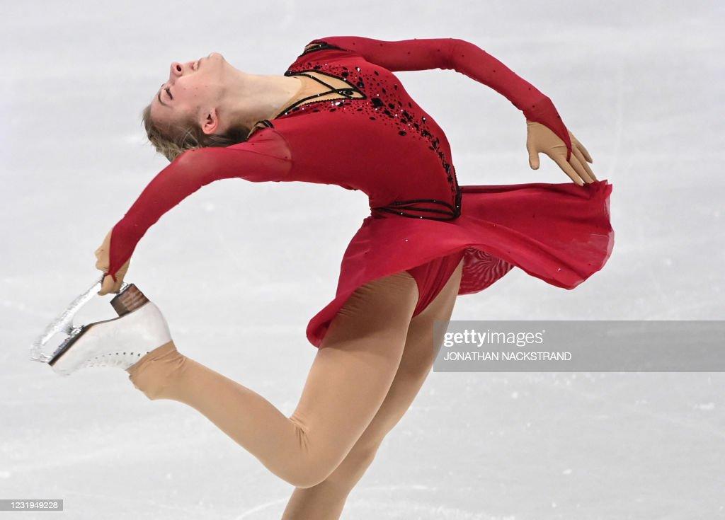 FSKATE-SWE-ISU-WORLD-WOMEN-FREE : News Photo