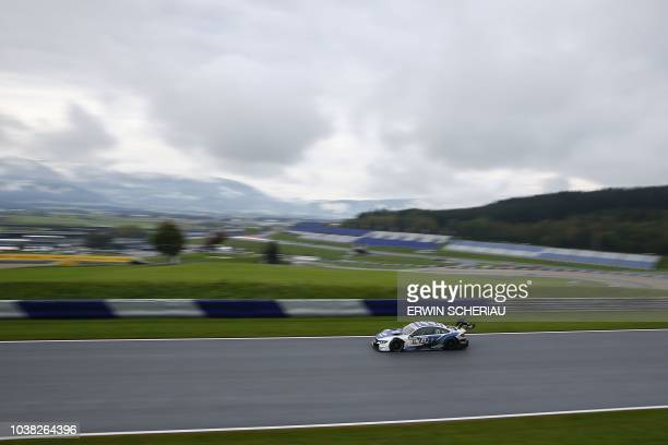 """Austria's Philipp Eng of the BMW Team RMR, takes part in the third free practice session at the DTM """"Deutsche Tourenwagen Meisterschaft"""" at the Red..."""