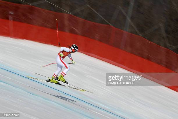 TOPSHOT Austria's Ramona Siebenhofer competes in the 2nd training of the Alpine Skiing Women's Downhill at the Jeongseon Alpine Center during the...