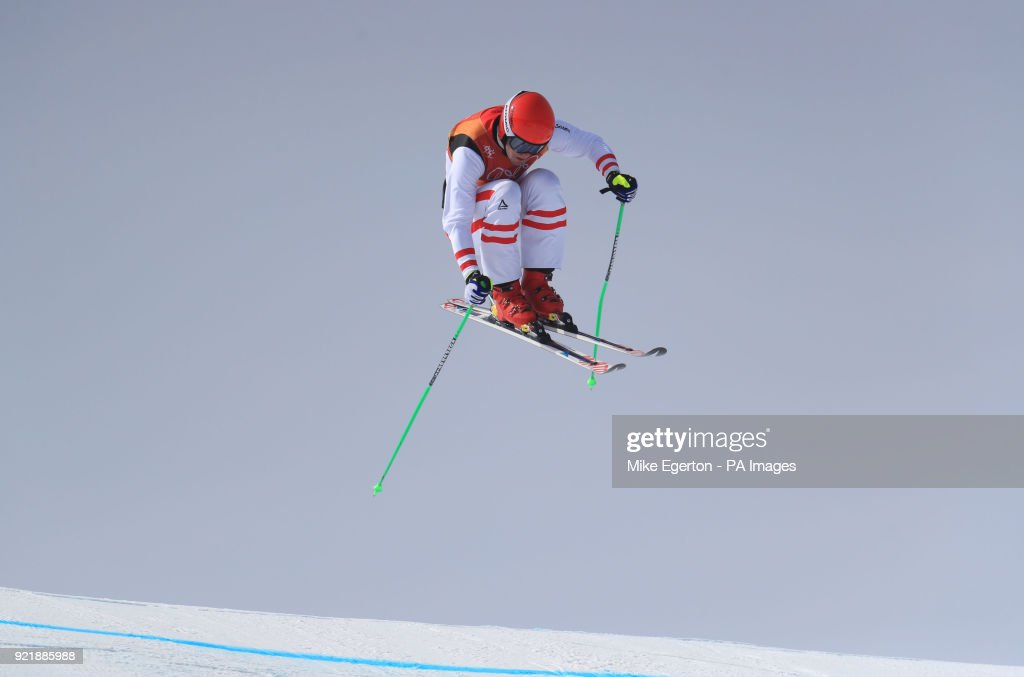 Austria's Robert Winkler in the Men's Ski Cross Final at the Phoenix Snow Park during day twelve of the PyeongChang 2018 Winter Olympic Games in South Korea.
