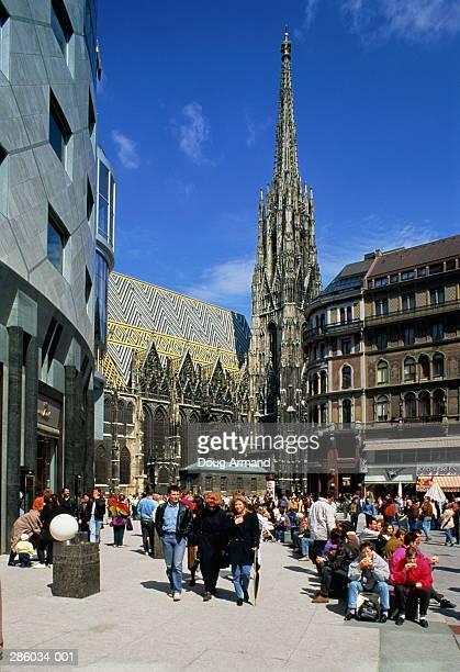 Austria,Vienna, Stephansplatz, St Stephen's Cathedral