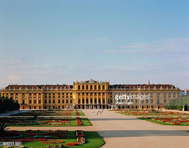 Austria,Vienna,Schonbrunn Palace, gardens in foreground