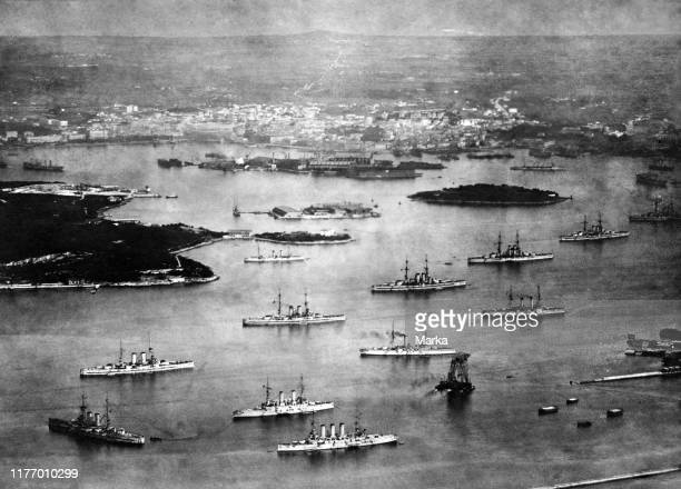 Austro-hungarian navy in the pula harbour. 1910-20.