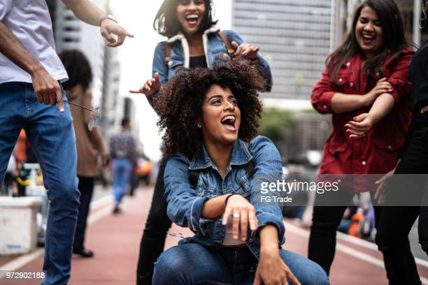 Authentic Group of Diverse Friends Having Fun