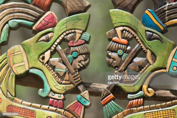 authentic handcraft souvenirs of maya civilisation - ancient civilization stock photos and pictures