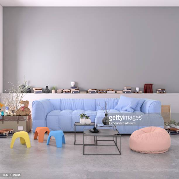 authentic home apartment interior with blank wall - childhood stock pictures, royalty-free photos & images