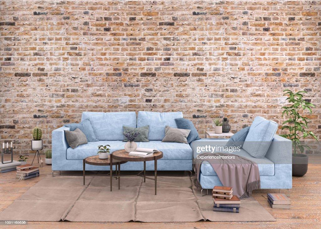 Authentische Haus Wohnung Interieur Mit Leere Wand Stock-Foto ...