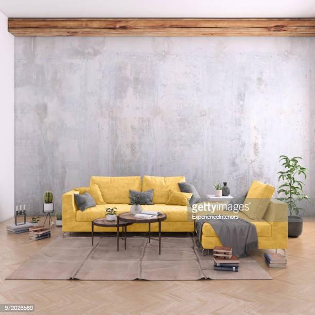 Authentische Haus Wohnung Interieur mit leere Wand