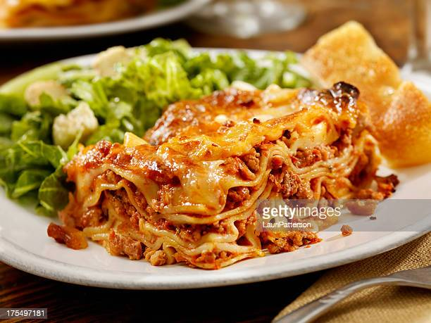 authentic italian meat lasagna - lasagna stock pictures, royalty-free photos & images