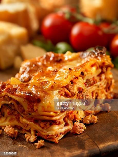 Authentische italienische Fleisch Lasagne