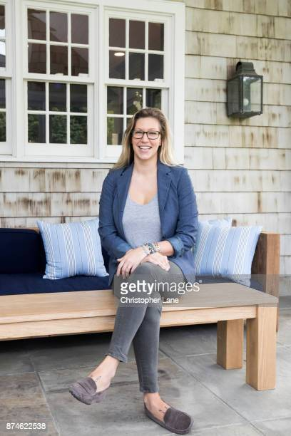 Author A F Brady is photographed for The London Times on September 20 2017 in Bedford Hills New York