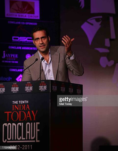 Author Aatish Taseer speaking during 10th India Today Conclave being held in the capital on March 1819 2011 at Taj Palace Hotel