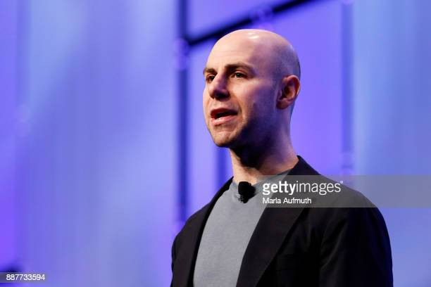 Author Adam Grant speaks during the Massachusetts Conference for Women 2017 at the Boston Convention Center on December 7 2017 in Boston Massachusetts