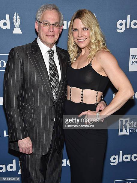 Author Adam Levin and Heather McDowell Founder/CEO of Tickle Water attends the 27th Annual GLAAD Media Awards in New York on May 14 2016 in New York...
