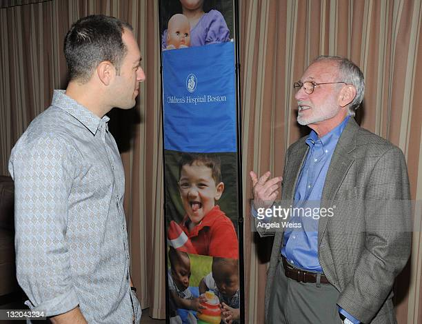 Author Adam Mansbach and Dr Richard Ferber attend the Celebrity Parents Talk Sleep With Children's Hospital Boston's Dr Richard Ferber event at...