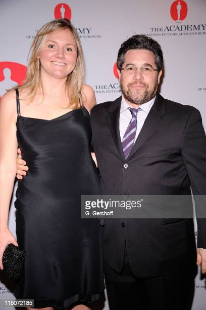Author Addie Morfoot and director/producer Ross Kaufman attends the Academy of Motion Picture Arts Sciences New York Oscar night party at GILT at The...