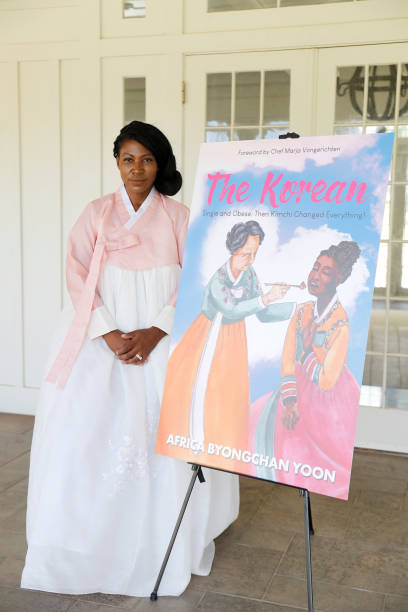 """HI: Author Africa Yoon Prepares For The Upcoming Release Of Her Book """"The Korean"""" About Her 110 Pounds Weight Loss, Eating From Korean Food Grocery Store Hmart Wearing Hanbok.  thekoreanbook.com"""