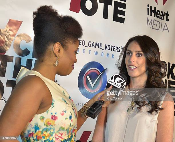 Author Akilah Hughes interviews Rock The Vote President Ashley Spillane at Rock The Vote Annual WHCD Weekend KickOff Event presented by Fusion and...