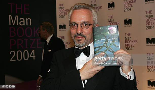 Author Alan Hollinghurst poses at the announcement of his winning of the 'Man Booker Prize For Fiction 2004' for his book 'The Line Of Beauty' at The...