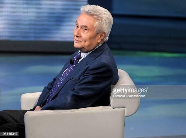 Author Alberto Arbasino appears on 'Che Tempo Che Fa' Italian Tv Show on January 24 2010 in Milan Italy