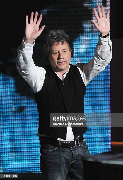 Author Alessandro Baricco attends 'Che Tempo Che Fa' italian Tv Show held at Rai Studios on November 7 2009 in Milan Italy