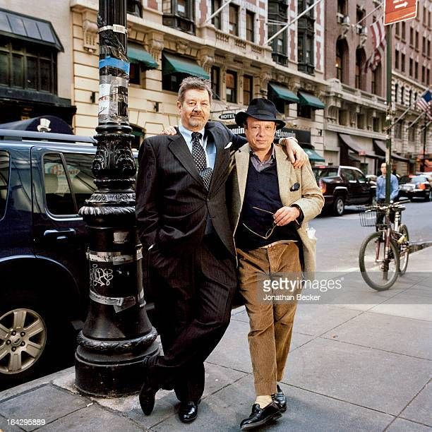 Author Alex Shoumatoff and photographer Jonathan Becker are photographed for Vanity Fair Magazine on March 14, 2012 in New York City. PUBLISHED IMAGE.