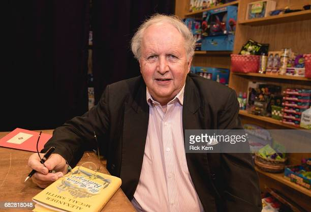 Author Alexander McCall Smith signs copies of his book 'My Italian Bulldozer' at BookPeople on May 13 2017 in Austin Texas