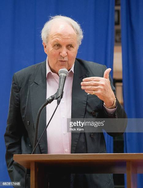 Author Alexander McCall Smith speaks during his book signing event for 'My Italian Bulldozer' at BookPeople on May 13 2017 in Austin Texas