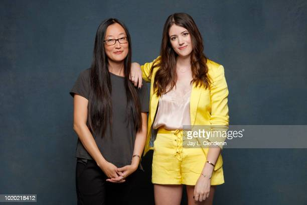 Author Alexandra Bracken and director Jennifer Yuh Nelson from 'The Darkest Minds' are photographed for Los Angeles Times on July 21 2018 in San...