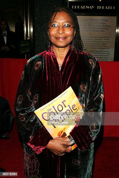 Author Alice Walker attends the Broadway opening of 'The Color Purple' at the Broadway Theatre December 1 2005 in New York City