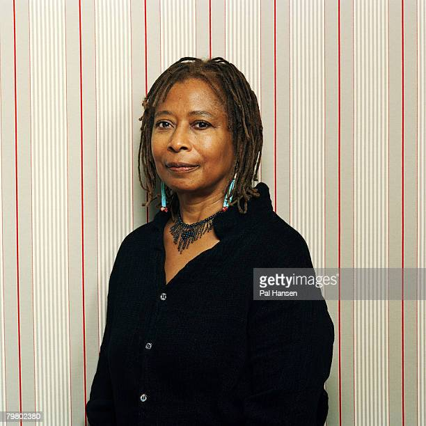 Author Alice Walker poses for a portrait shoot for the Telegraph magazine in London on August 11 2005