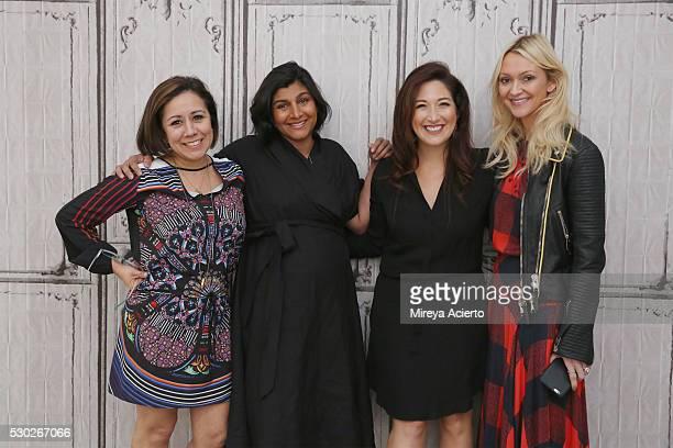 Author Alicia Ybarbo Shazi Visram Randi Zuckerberg and Zanna Roberts Rassi discuss being a working mother at AOL Build Speaker Series on May 10 2016...